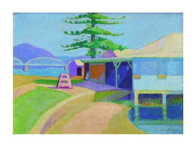 Roy De Maistre (1894-1968) Colour Sketch - Dangar Island, 1918