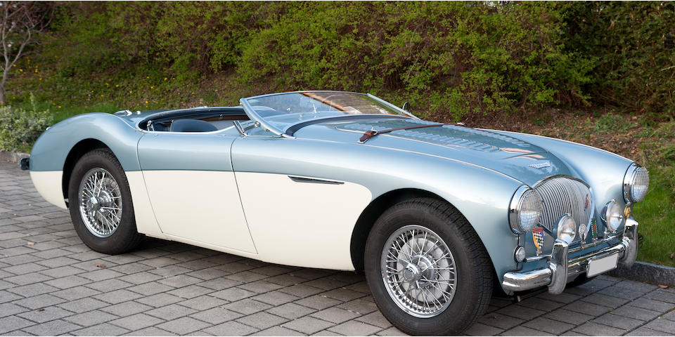"1956 Austin Healey 100 M ""Le Mans"" Chassis no. BN2 L23 O58 1 Engine no. IB/ 230 581"