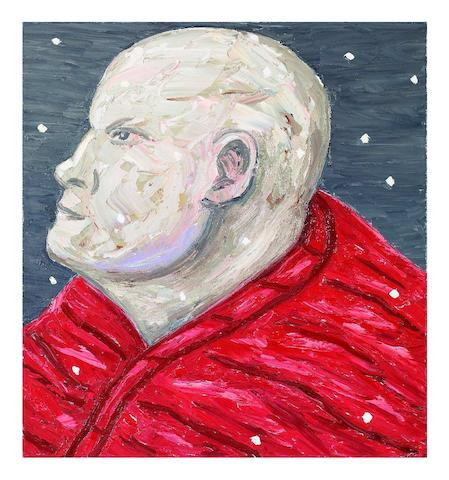 Peter Booth (born 1940) (Man in Red Blanket), 2007