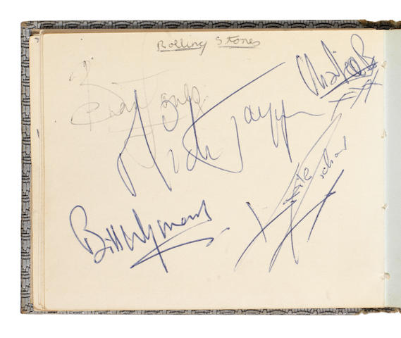 The Rolling Stones: A set of autographs, together with the Who, the Yardbirds and others, 1960s, 2