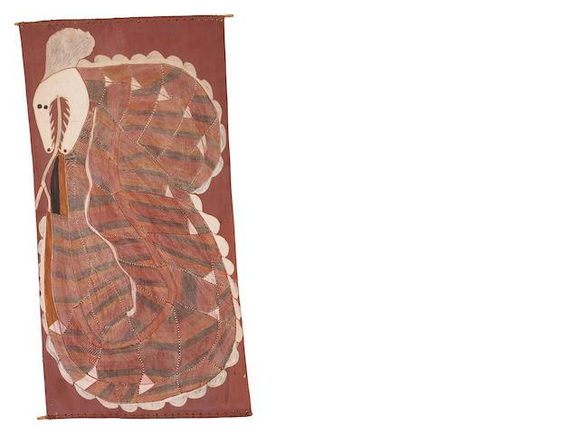 John Mawurndjul (born circa 1952) Ngalyod the Rainbow Serpent, 1985
