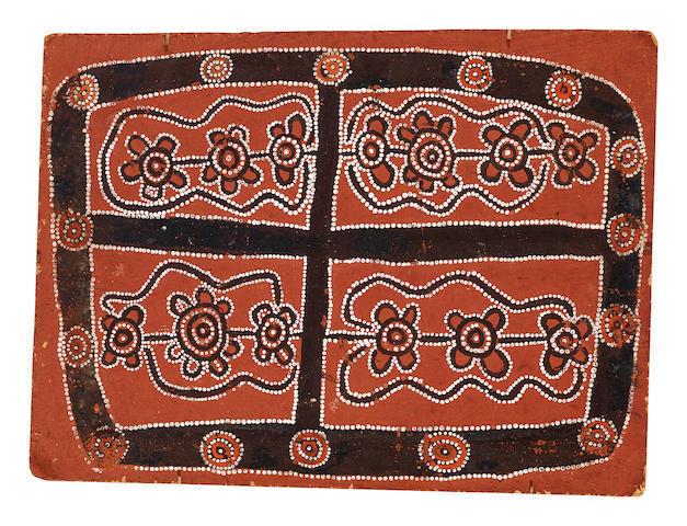 Anatjari No.III Tjakamarra (circa 1938-1992) Pintupi Four part Dreaming, 1971