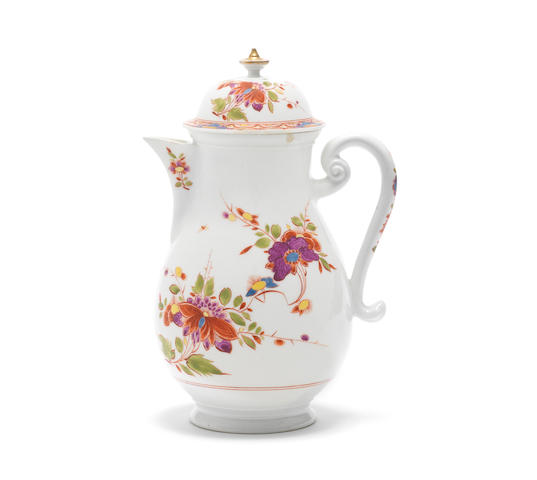 A Meissen coffee pot and cover, circa 1726-27