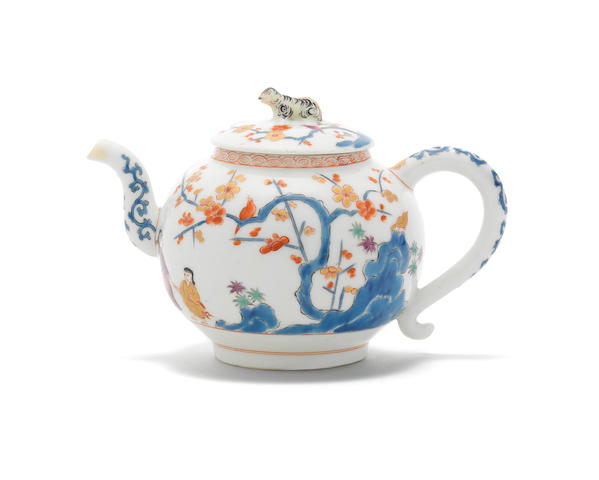 A very rare Meissen teapot and cover, circa 1729-30
