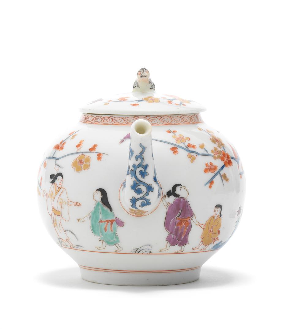 A very rare Meissen teapot and cover, circa 1729-30
