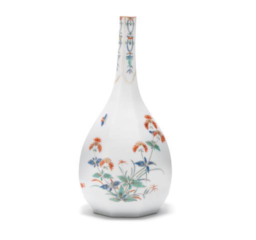 A Meissen octagonal sake bottle, circa 1729-31