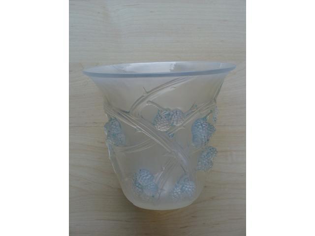 A René Lalique opalescent 'Mures' vase Design 1930