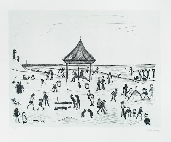 Laurence Stephen Lowry R.A. (British, 1887-1976) The Pavillion Lithograph, 1969-72, on wove, signed and numbered 9/75 in pencil, published by Ganymed Editions, London, with margins, 480 x 615mm (19 x 24 1/4in)(I)