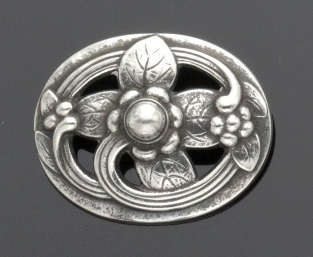 Bonhams : A diamond and seed pearl crescent bar brooch