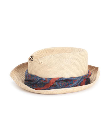 Doctor Who: Sylvester McCoy - an original screen-used and signed trademark Panama hat,