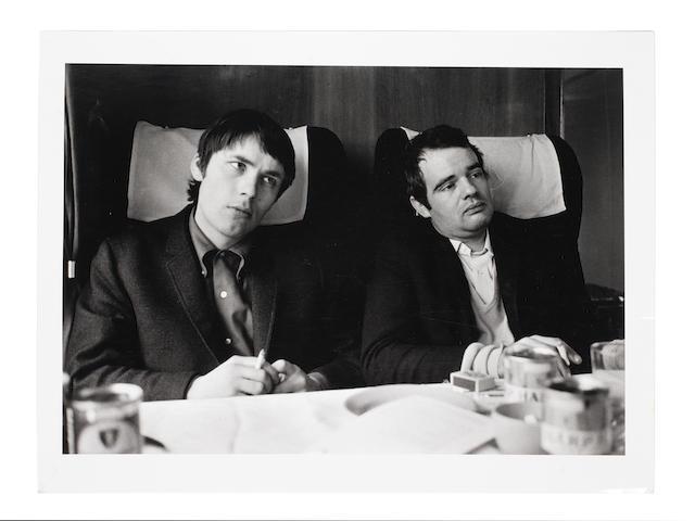 Colin Jones (British, b. 1934): The Who - Chris Stamp & Kit Lambert, On Train To Manchester, 1966,