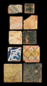 A study collection of Medieval tiles, 13th-16th century