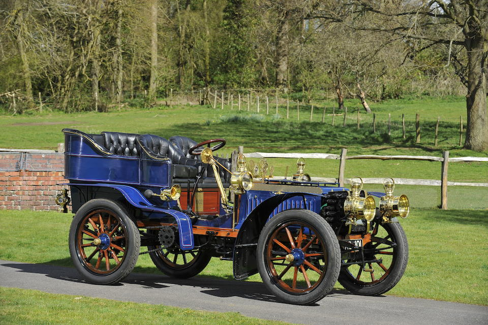 "Ex-Lord Iveagh, Francis Hutton-StottOffered from the Michael Banfield Collection,1902 De Dietrich 16-hp ""Paris-Vienna"" Rear-Entrance Tonneau  Chassis no. 1036 Engine no. 558"