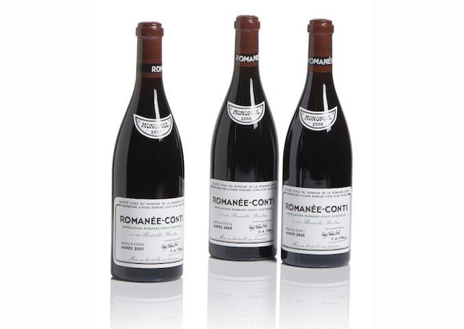 Romanée-Conti  2006, Domaine de la Romanée-Conti (1) Romanée-Conti  2007, Domaine de la Romanée-Conti (1) Romanée-Conti  2008, Domaine de la Romanée-Conti (1)