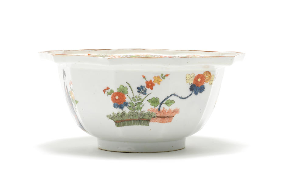 A very rare Meissen ten-sided bowl, circa 1723