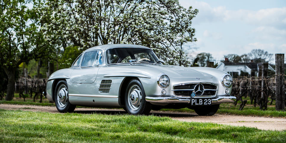 The ex-Stirling Moss, Denis Jenkinson, 1955 Mille Miglia reconnaissance,1954 Mercedes-Benz 300 SL Gullwing Chassis no. 1980404500019 Engine no. 1989804500003