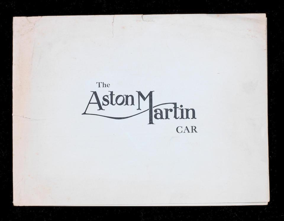 An early Aston Martin sales brochure, circa 1924,
