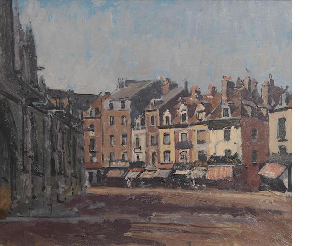 Walter Richard Sickert A.R.A. (British, 1860-1942) Rue de la Boucherie with St Jacques 45.9 x 54.9 cm. (18 1/8 x 21 5/8 in.)
