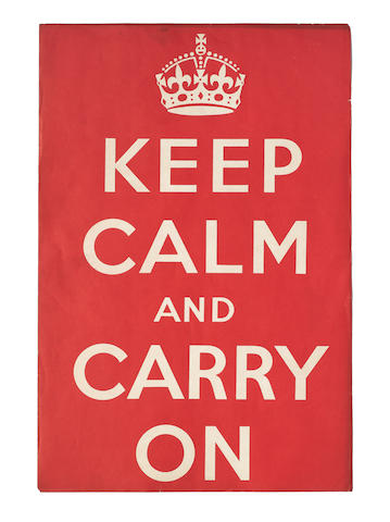 "Anonymous ""KEEP CALM AND CARRY ON"""