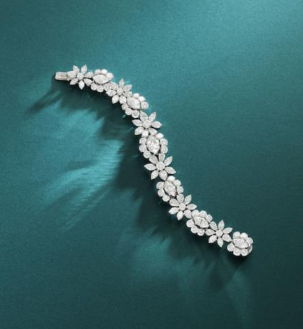 An important diamond bracelet,  by Van Cleef and Arpels,