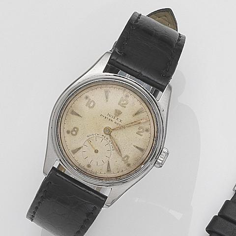 Rolex. A stainless steel manual wind wristwatch Oyster Royal, Ref:6044, Serial No.740***, Circa 1951