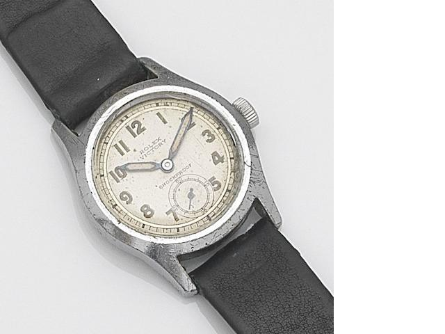 Rolex. A stainless steel manual wind wristwatch Victory, Case No.557550, Circa 1940