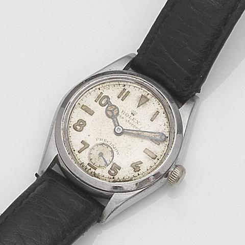Rolex. A stainless steel manual wind wristwatch  Oyster Speedking, Ref:3121, Serial No.113***, Circa 1941