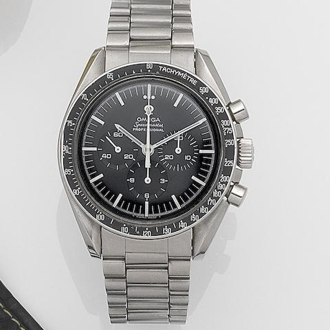 Omega. A stainless steel manual wind chronograph bracelet watch Speedmaster, Ref:145012, Movement No.26544881, Circa 1968