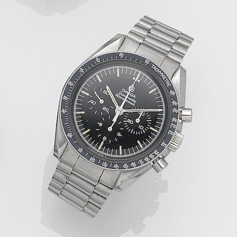Omega. A stainless steel manual wind chronograph bracelet watch Speedmaster, Ref:145022, Movement No.39923246, Circa 1971