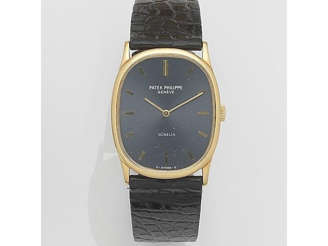 Patek Philippe. An 18ct gold manual wind wristwatch Ellipse, Ref:3846, Case No.538155, Movement No.1325901, Retailed by Gübelin, Sold 1978