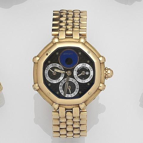 Gerald Genta. An 18ct gold quartz perpetual calendar bracelet watch with moonphase Success, Ref:G34047, Case No.64637, Circa 1990