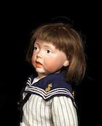 A Kämmer & Reinhardt 112 'Walter' bisque head character doll