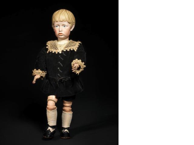 A very rare Kämmer & Reinhardt 102 bisque head character doll