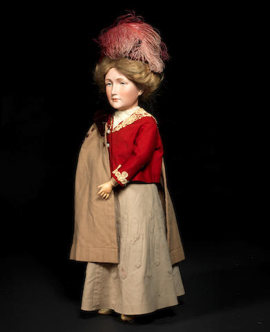 A Simon & Halbig 152 bisque head lady doll, unmarked