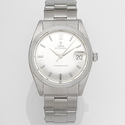 Tudor. A stainless steel manual wind calendar bracelet watch Oysterdate, Ref:7962, Serial No.447248, Circa 1964