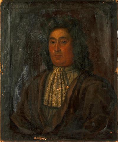 English school, 18th Century Portrait of a gentleman, believed to be John Higgins of Loynton (1644-1715) (unframed)