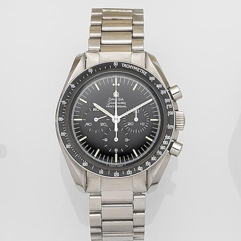 Omega. A stainless steel manual wind chronograph bracelet watch Speedmaster, Case No.145022-71, Movement No.31619117, Circa 1973