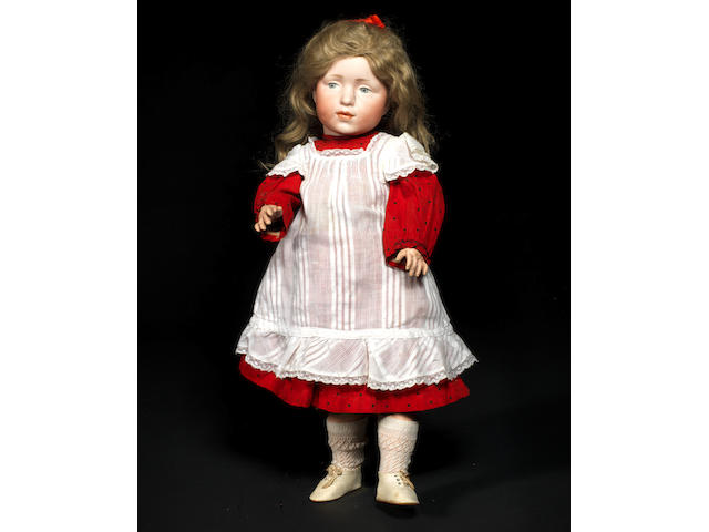 A rare Kämmer & Reinhardt 109 'Elise' bisque head character doll