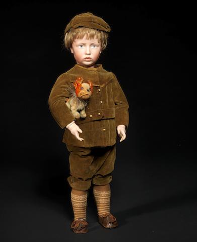 A Kämmer & Reinhardt 107 'Carl' bisque head character doll