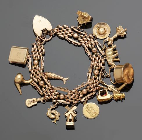 A charm bracelet and a slave bangle (2)