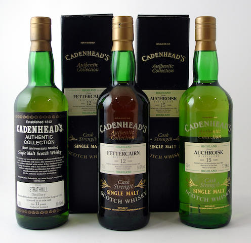 Auchroisk-15 year old-1978Strathmill-11 year old-1980Fettercairn-12 year old-1980