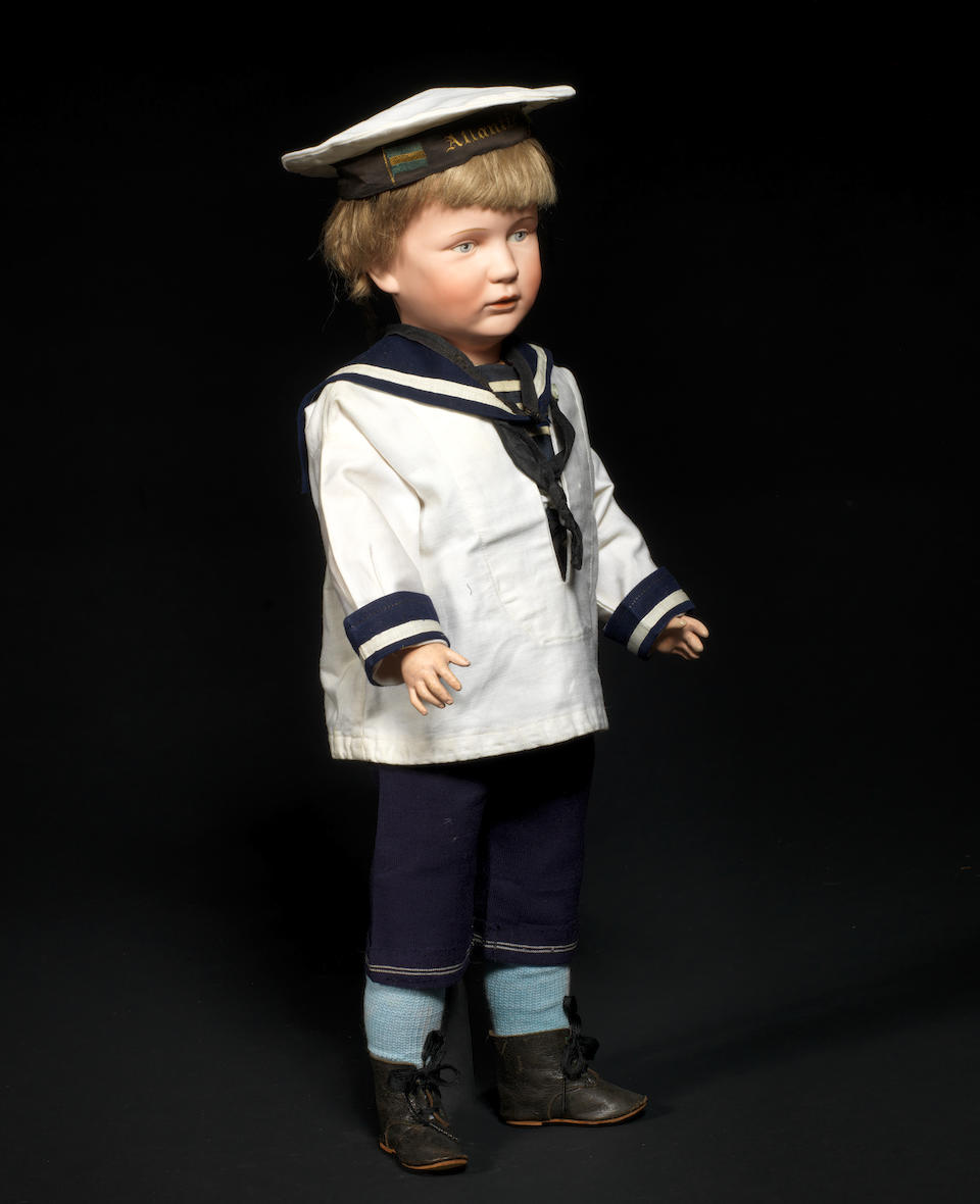 A Franz Schmidt & Co 1263 bisque head character doll