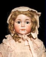 A large Kämmer & Reinhardt 117 'Mein Liebling' bisque head character doll