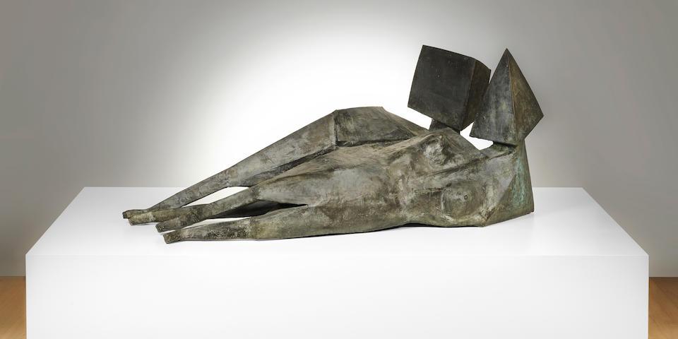 Lynn Chadwick (British, 1914-2003) Two Reclining Figures 191.8 cm. (75 1/2 in.) long