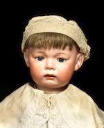 A large rare Kämmer & Reinhardt 119 bisque head character baby
