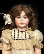 A rare Simon & Halbig 120 bisque head character doll