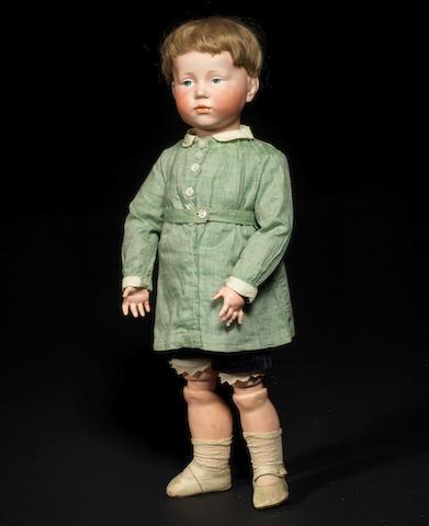 A Kämmer & Reinhardt 'Peter' 101 bisque head character doll