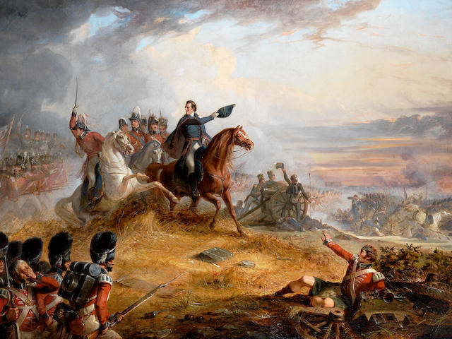 Thomas Jones Barker (British, 1815-1882) The battle of Waterloo