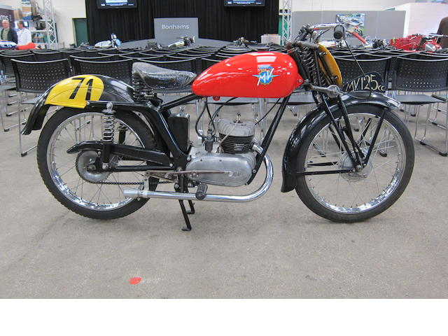 1949 MV Agusta 125 Sport Frame no. 020193/6 Engine no. 020147
