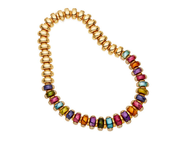 A diamond and gem-set 'Celtaura' necklace, by Bulgari